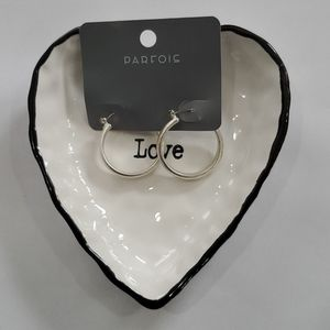NWT Silver Toned Hoop Earrings.